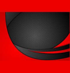 Red and black abstract corporate waves vector