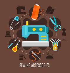 sewing accessories concept vector image vector image