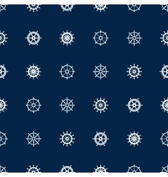 Ship helm seamless pattern yacht boat vector image vector image