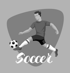 soccer player with ball sports football vector image