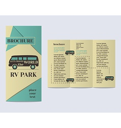 Travel and camping brochure flyer design layout vector