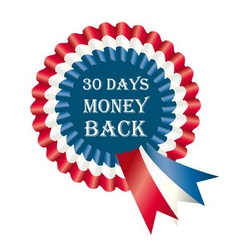 30 days money back guarantee label vector image