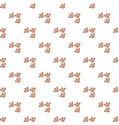Dog prints pattern cartoon style vector image