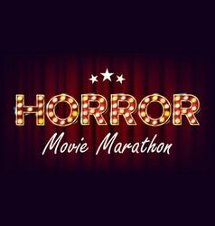 horror movie marathon background cinema vector image vector image