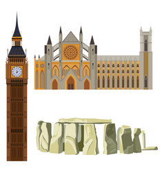 sightseeing of great britain westminster abbey vector image vector image