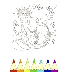 coloring vector image