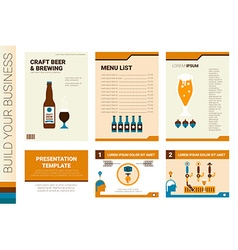 Craft beer book cover and presentation template vector image