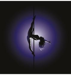pole dance Kim position vector image vector image