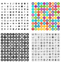 100 printer icons set variant vector image