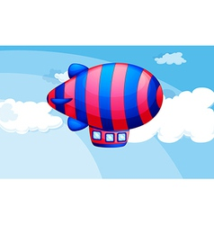 A stripe-colored airship in sky vector