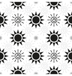 Abstract monochrome Sun Pattern vector