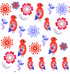 abstract nature fantasy birds odd seamless vector image
