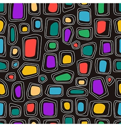 Abstract shapes on the black background vector image