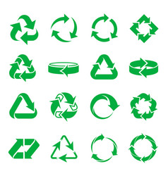 Arrows recycling icons vector