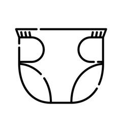 badiapers icon design clip art line icon vector image