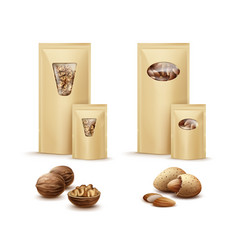 bags with nuts vector image