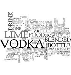 Bartender quick tip buy vodka evenly blended with vector