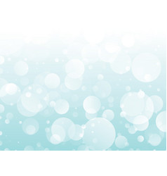 blue circles snow background vector image