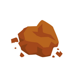 Brown stone geological industry element vector