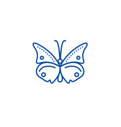 butterfly line icon concept butterfly flat vector image