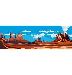 Cartoon desert red rock canyon vector
