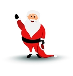 Christmas smiling Santa Claus character say Hello vector
