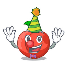 Clown fruit of nectarine isolated on mascot vector