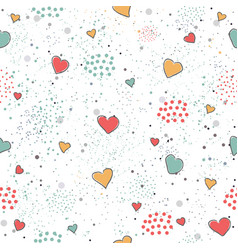 creative hand drawn seamless pattern with vector image