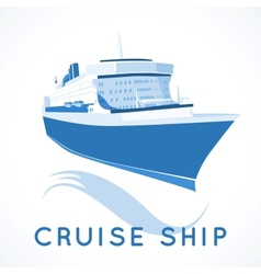 Cruise ship label vector