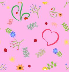 cute pattern pink vector image