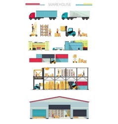Delivery Concept Warehouse vector