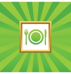 Dishware picture icon vector