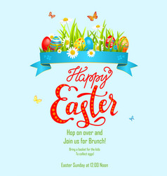 eggs on grass poster vector image