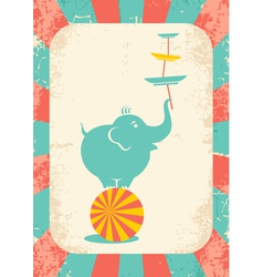 elephant on the ball vector image