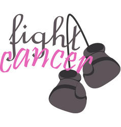 Fight cancer on white background vector