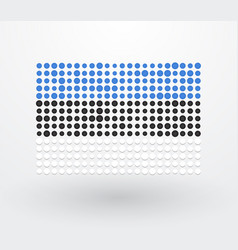 flag of estonia made up of small dots vector image