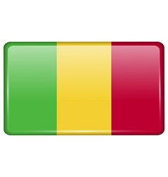 Flags Mali in the form of a magnet on refrigerator vector