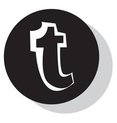 Flat tumblr social media icons vector