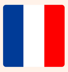 french square flag button social media vector image