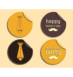 Happy Fathers Day label and sticker template with vector image