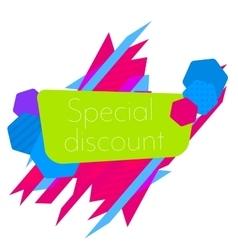 Limited Offer Mega Sale geometrical ultra modern vector image