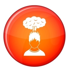 Man with red cloud over head icon flat style vector