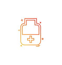 Medicine bottle tablets icon desige vector