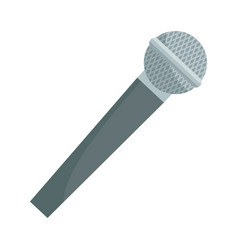 Modern microphone instrument electronic speak icon vector