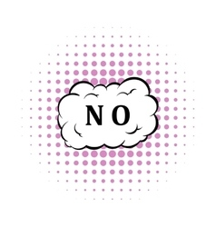 No in cloud icon comics style vector