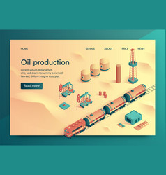 oil production isometric vector image