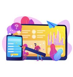 Online survey concept vector