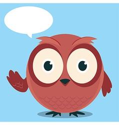Owl Say With balloon talk vector