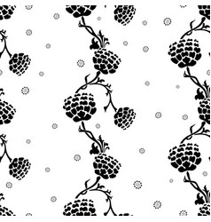 pattern of the silhouettes of flower twigs vector image