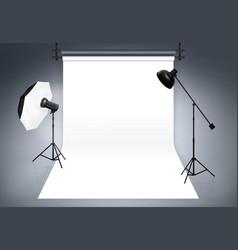 Photo studio background vector